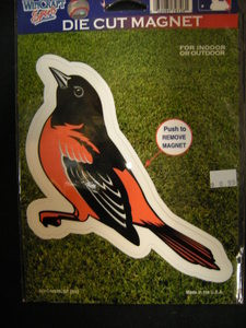 Baltimore Orioles Die Cut Bird Magnet