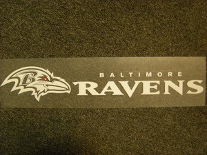 Baltimore Ravens Die Cut Decal