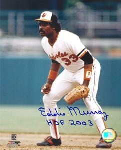 Eddie Murray Auto 8x10 Photo #2