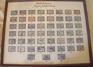 FIFTIETH ANNIVERSARY MIGRATORY WATERFOWL STAMPS 1934-1984: Custom Framed From Sportman's Edge NYC