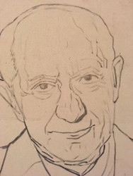 "BEN BENN: (Amer 1884-1983) Modernist ""Self-Portrait II"" Oil On Canvas"