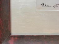 "BEN BENN: (Amer 1884-1983) Modernist ""The Sea Gulls"" Ink With Silver 1956 Original Frame"