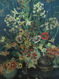 "RUTH A. ANDERSON:(1897-1957) ""Floral Still Life"" Oil Painting Gold Frame Listed"