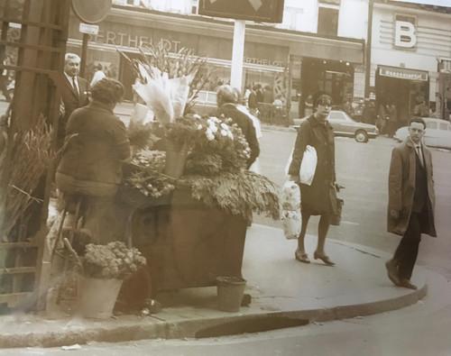 """HENRY GASSER: (1909-1981) Photo """"Flower Street Vendor """" Italy Ca 1950 Framed"""