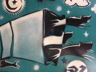"DOUG Z: Spraypaint Surrealizm ""Cats Out Of The Bag"" Framed Element Artist"