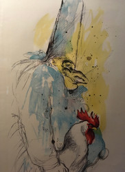 "LEROY NEIMAN:1921-2012 ""Punchinello"" Chef Lithograph 1969 Signed/Number 106/200"