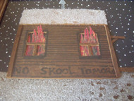 "PAUL NICKEL ""WELSH"" (AMER.1948-2008): ""No Skool Tomoro"" Mixed Media Folk Art"