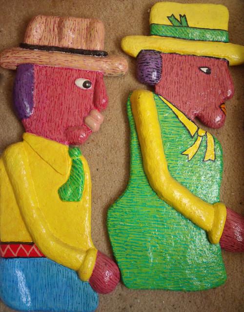 "STEPHEN SLOMKO (AMER 1929-2013 )"" Tribute To Migration Series"" Mache Papier Oil"