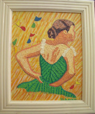 "STEPHEN SLOMKO (Amer 1929-2013 ) ""Tiny Dancer"" Impasto Oil Painting Artist Self- Framed"