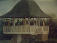 "JONATHAN TALBOT (Listed): ""The Pavilion"" Watercolor Signed Gold Framed Ca 1980"