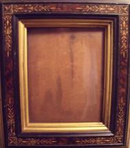 BURL WALNUT EASTLAKE VICTORIAN GOLD INCISED FRAME GOLD INSET CA 1880 LOVELY