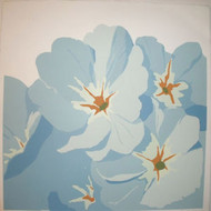 "BRIAN COOK SERIGRAPH PRINT ""BLUE PETUNIAS ON WHITE""  PENCIL SIGNED COOK AP 1981"