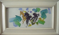 "RICHARD AHR 1929-2012 NEW YORK CITY ""RACING"" EQUESTRIAN HORSE WATERCOLOR"