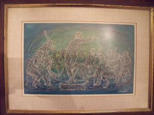 Bill Dick Orchestramusicians Print Custom Frame Linen Mat Non