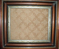 OLD WALNUT DEEP FRAME CA 1880 WITH GOLD INSET VERY GOOD CONDITION