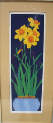 "TJILDA MICHAS SERIGRAPH ""NARCISSUS"" 1980 PENCIL SIGNED NUMBERED LISTED ARTIST"