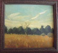 "MIDLER SIGNED OIL ON LINEN CANVAS PAINTING ""FIELDS OF GOLD"""