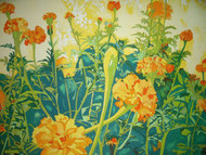 "RICHARD KARWOSKI: LISTED AMER NYC (1938-1982) Marigold Garden""  Lithograph Signed Numbered 1981"