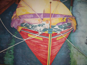 "RICHARD KARWOSKI: LISTED AMER NYC (1938-1982) ""At The Marina""  Lithograph Signed Numbered 1982"