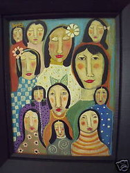 "ROSE WALTON AMERICAN PA ARTIST ""LADIES IN WAITING"""