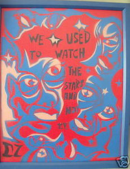 "DOUG Z NJ ARTIST SPRAYPAINT SURREALIZM ""WATCH THE STARS"""