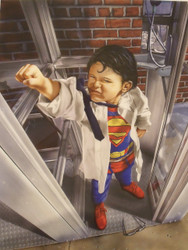 "MIKE HARPER ""SUPERKID"" AIRBRUSH ILLUSTRATION GICLEE PRINT BELL TELEPHONE"