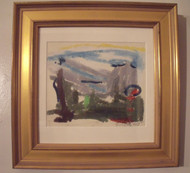 "ROBERT T. COOKE (PA 1943-) LISTED ""LAND & SKY""LANDSCAPE SERIES 1969 GOLD FRAME"