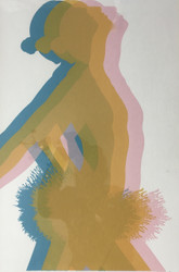 """PROCESS DANCER"" Serigraph Pencil Signed/Numbered Custom Frame Linen Mat Ca 1980"