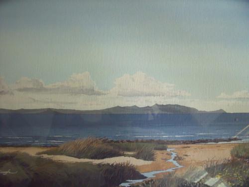 "ArtRoomsGallery.com: Frank W. Colclough "" Arran from Ahr"" Painting"