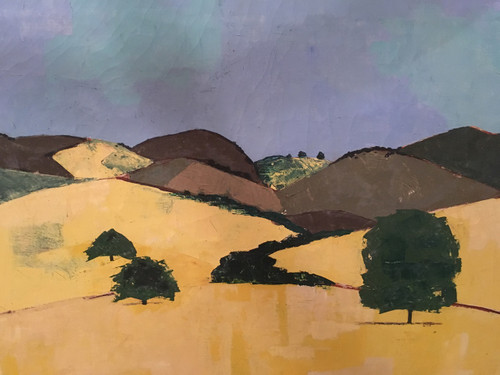 """Nancy Winslow Parker """"Landscape in Yellow & Greens"""""""