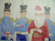 "Nancy Winslow Parker: LIsted Illustrator & Author (NYC 1933- 2014) ""Santa & Toy Soldiers"""