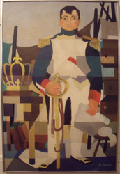 """Nancy Winslow Parker: LIsted Illustrator (NYC 1933- 2014) """"Naval Officer""""  Oil on Canvas Ca 1960 Framed"""