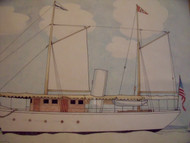 "Nancy Winslow Parker Listed Illustrator (NYC 1933- 2014) ""Sailing Ship""  Watercolor Ca 1980 Framed"