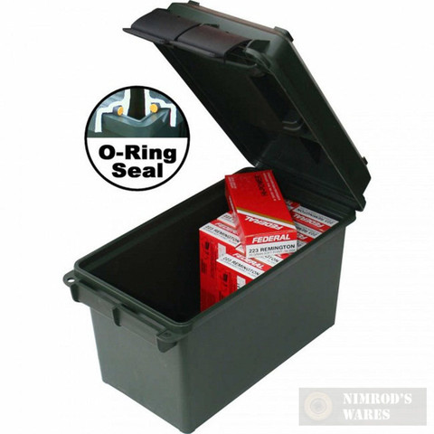 MTM Case-Gard .50 Caliber Plastic Ammunition Ammo Box / Can AC50C11
