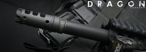LANTAC Dragon Muzzle Brake DGN556B for AR15, M16 & M4 5.56/.223