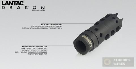LANTAC Drakon Muzzle Brake for AK47 Style Rifles DGNAK47B
