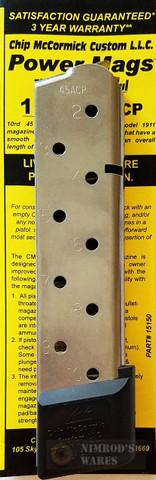 Chip McCormick PowerMag 1911 .45 ACP 10 Round Magazine 15150