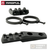 MAGPUL MAG614-BLK Light Mount V-Block and Rings + MAG588 M-LOK Aluminum Cantilever Rail / Light Mount