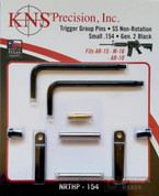 "KNS Precision Gen2 BLK Non-Rotation Small .154"" Pins NRTHP-154"