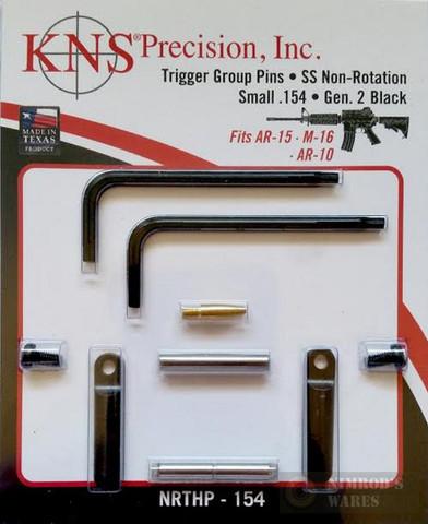"KNS Precision Gen2 BLK Non-Rotation Small .154"" Pins NRTHP-154"