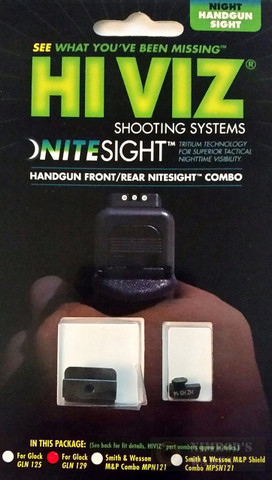 HiViz NITESIGHT™ Set for GLOCK 10mm 45ACP 45GAP GLN129