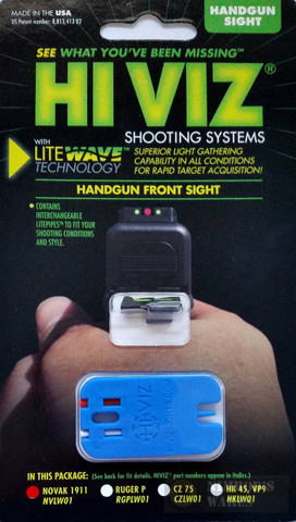 HiViz LITEWAVE™ Novak 1911 Interchangeable Front Sight NVLW01