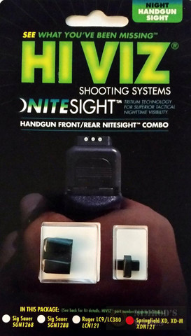 HiViz NITESIGHT™ Set for Springfield XD XDS XD-M (Except XD 5.25) XDN121