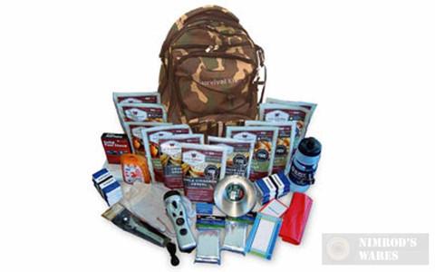 WISE 2 Week Essential 16 SURVIVAL Items + 44 Servings CAMO Backpack