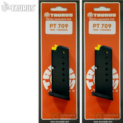 Taurus PT-709 Slim 9mm 7 Round MAGAZINE 2-PACK 5-10709 510709