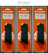 Taurus PT-709 Slim 9mm 7 Round MAGAZINE 3-PACK 5-10709 510709