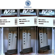 Smith & Wesson M&P SHIELD MAGAZINE 3-PACK 9mm 8 Rounds 19936 S&W