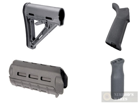 MAGPUL AR M-LOK MOE KIT Commercial-Spec GRAY Stock / Hand Guard / Pistol Grip / Vertical Grip