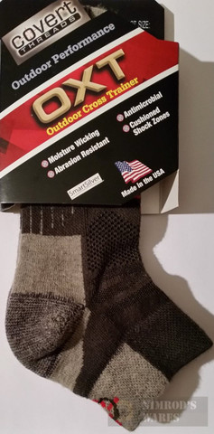 Covert Threads Outdoor Cross Trainer SOCKS Med Char/Gry 7482