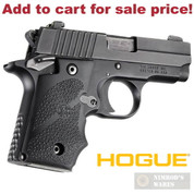 Hogue 38080 Sig P238 Ambi-Safety Overmolded Grip + Finger Grooves - Add to cart for sale price!